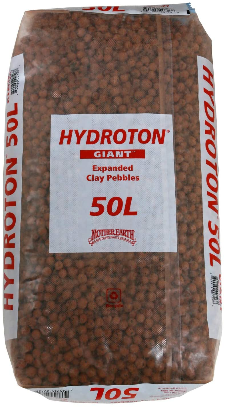 Mother Earth 714123 Hydroton Original Expanded Clay Pebbles